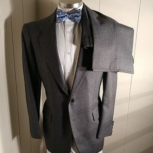 Hickey Freeman Charcoal Grey Pin Suit